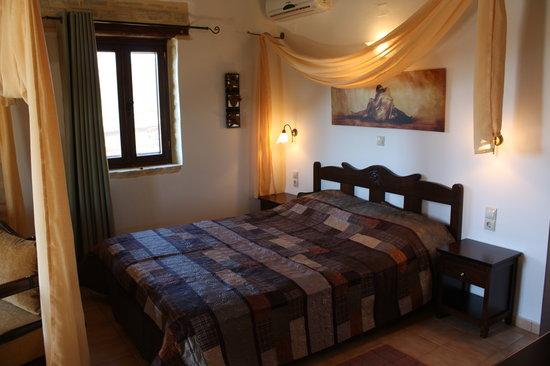 Eleonas: bedroom from stone cottage