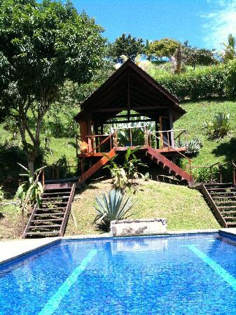 Vista Guapa Surf Camp: Pool and Yoga Room