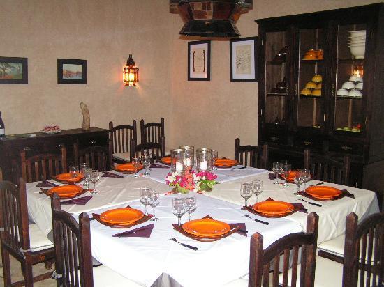 Palais Oumensour: une salle à manger