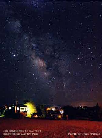 Rancheros de Santa Fe Campground : Beautiful night skies