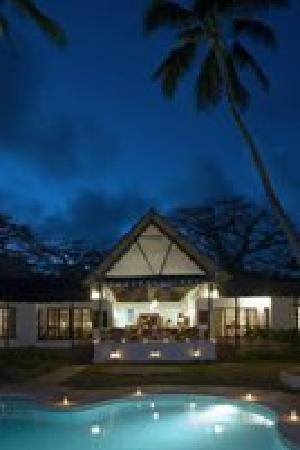 Diani Blue: View of Asha Cottage at night