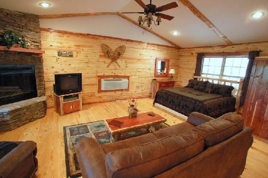 Lake Forest Luxury Log Cabins: Contemporary Rustic Decor