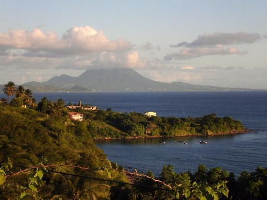 Clay Villa Plantation House & Gardens: Nevis view from house -evening