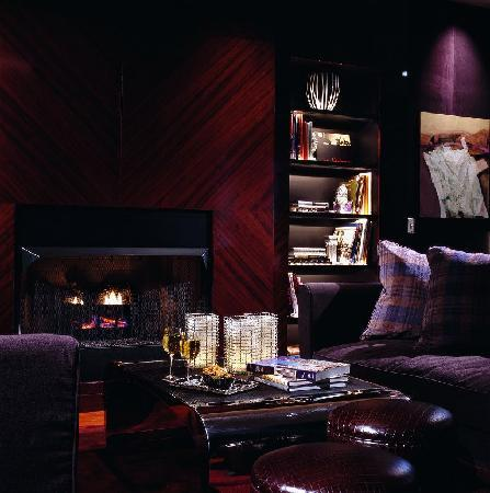 Sofitel Chicago Water Tower: Le Bar's intimate fireplace lounge