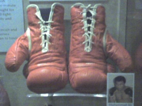 Muhammed Ali gloves at the National Museum of American History at the Smithsonian