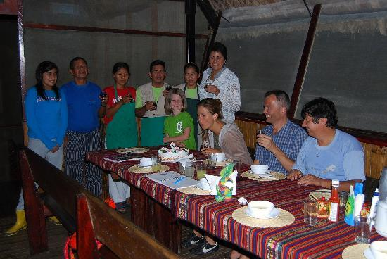 Yacuma Ecolodge: a birthdate party!