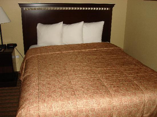Travelodge La Mesa: COMFORTABLE bed! Nice linens