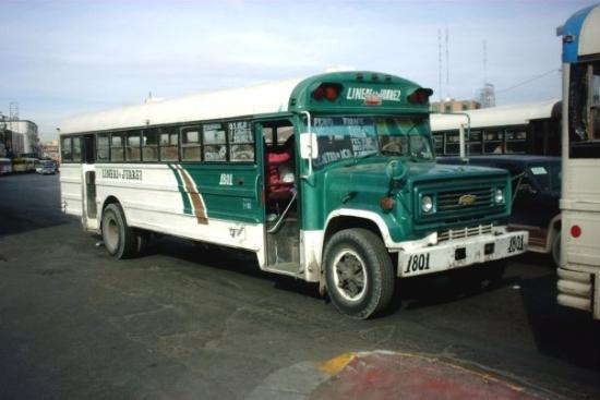 Autobus en Ciudad Juarez.