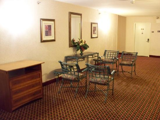 Comfort Inn Dulles International Airport: this 3rd floor space needs a table or something