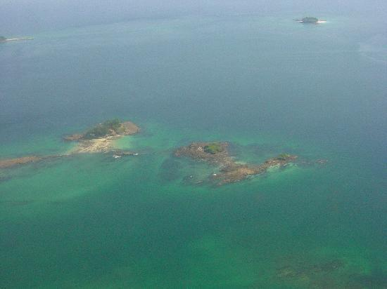Contadora Island, Panama: VIEW FROM THE PLANE