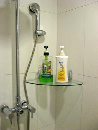 Richful Green Hotel: Shower stall (the room didn't have a bathtub)
