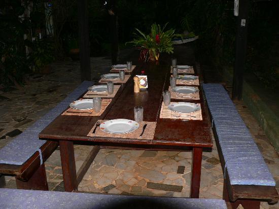 Hotel Fazenda Sitio Nosso Paraiso: Table