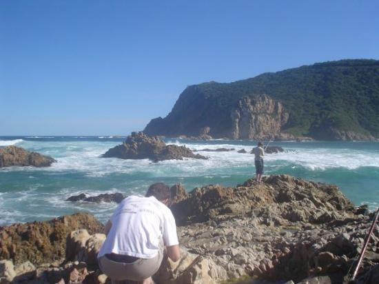 fishing at the heads in knysna
