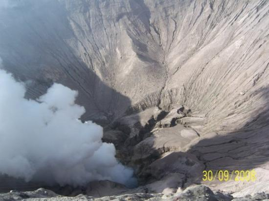 Malang, Indonesia: white crater