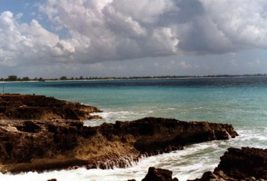 George Town, Grand Cayman: View of 7 Mile Beach - from West Bay, Grand Cayman Island
