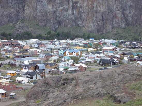 Anita's House Cabins: Looking Down on El Chalten