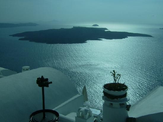 Santorini, Grekland: Preparing for sunset