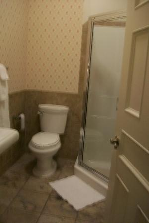 Big Tree Inn: bathroom with corner shower