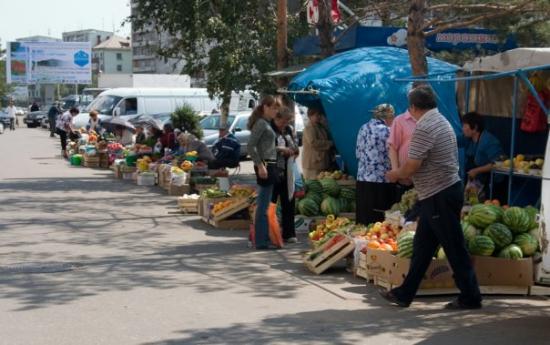 Pavlodar, Kazachstan: Gadehandel