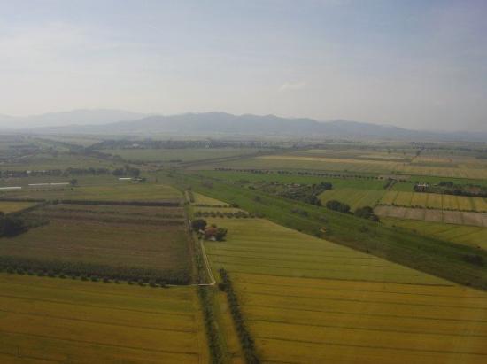 Castiglione Della Pescaia, İtalya: Innan landning i Grosetto