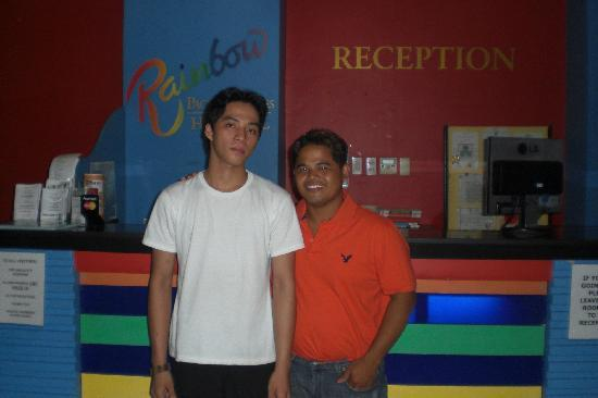 Rainbow Pacific Suites Hotel : employee and I...