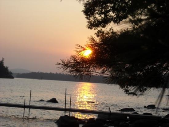 Typical sunset over Sebago Lake