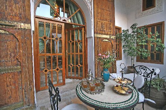 Riad & Spa Esprit du Maroc: terrasse d'um chambre