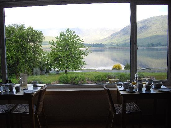 Huntingtower Lodge: breakfast with one of the best views in the world