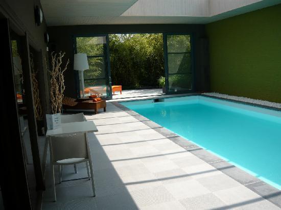 Aquarius Guesthouse: Luxe indoor pool 's avond verlicht