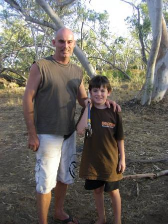 Mount Isa, Australia: Jacko speared his 1st creature with his new hand spear