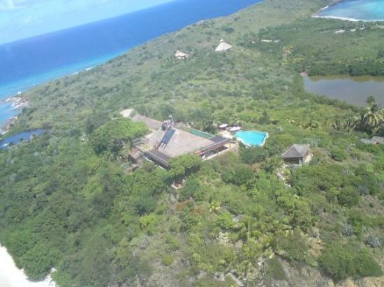Necker Island: Necker From The Air