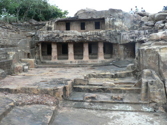 Bhubaneswar, India: A cave at Udayagiri