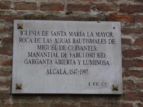 Catedral de Alcala de Henares: Placa de la Iglesia, Alcalá de Henares, Madrid