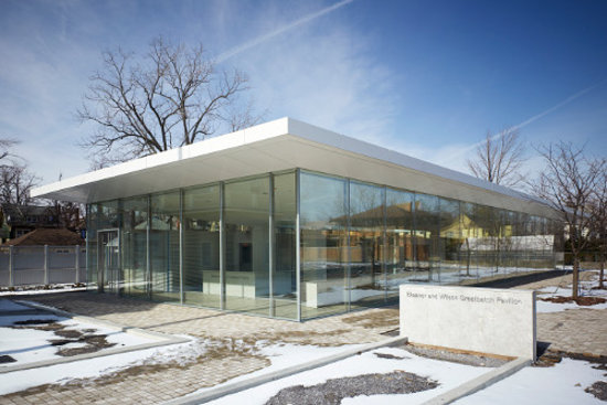 Modern glass box with a twist eleanor and wilson - Pavillon residentiel moderne gurney architecte ...
