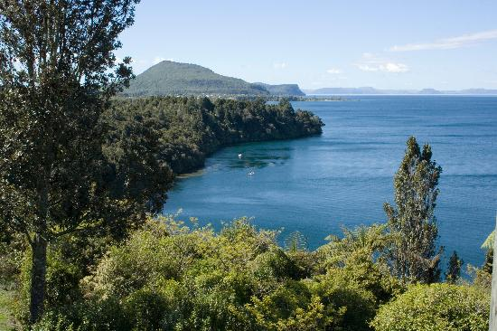 Oreti Village: View of Lake Taupo from the verander