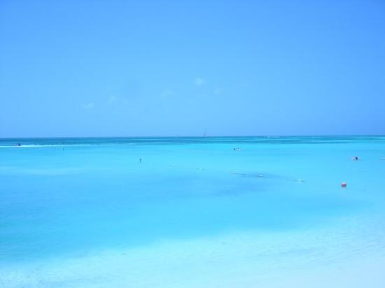 Palm Beach at our resort.  The water really is that blue.