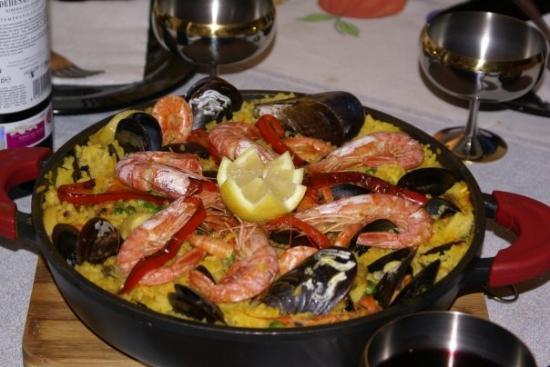Roquetas de Mar, Hiszpania: Paelya