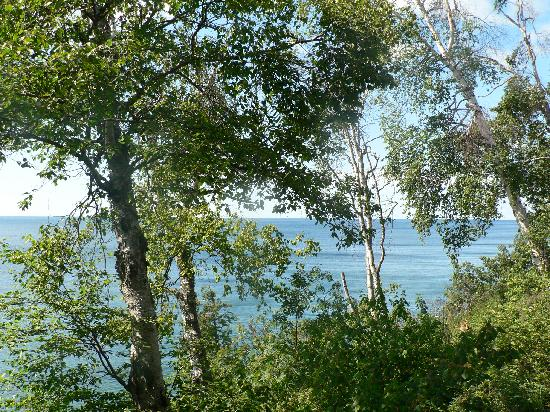 The Cliff Dweller on Lake Superior: View from our room at the Cliff Dweller