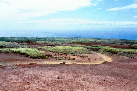 Νησί Lanai, Χαβάη: The road to Polihua from just below Garden of the Gods