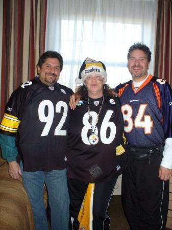 Candlewood Suites Denver - Lakewood: Mark, Cindy and James in hotel in Denver