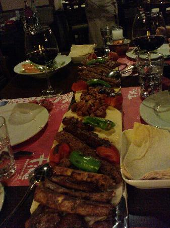 Nuar Restaurant : The Plank filled with Lamb Mixed Grill