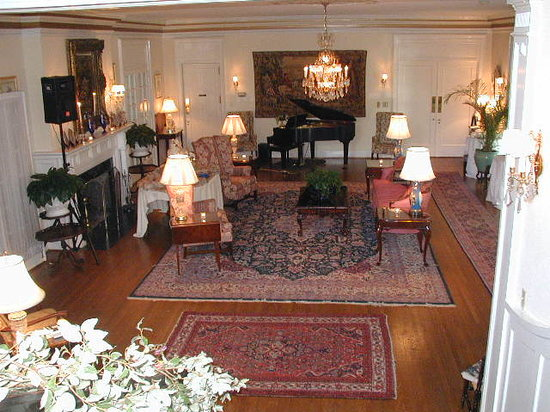 The Morehead Inn: Elegant accommodations, the Great Room