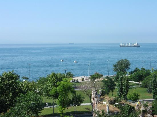 Berce Hotel: sea from terace