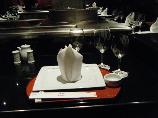 Iberostar Grand Hotel Rose Hall: Place setting at the Japanese restaurant