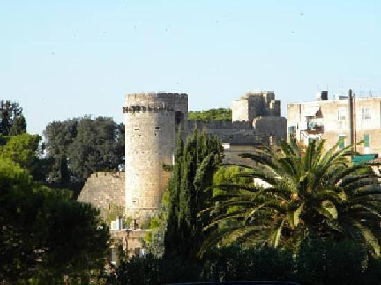 Tarquinia's city walls with tower
