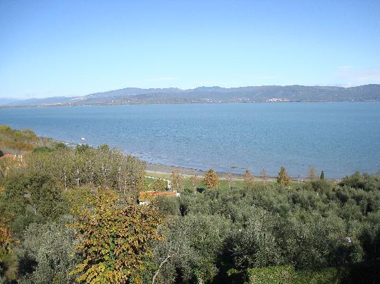Hotel  la Torre: vista lago da Castiglione