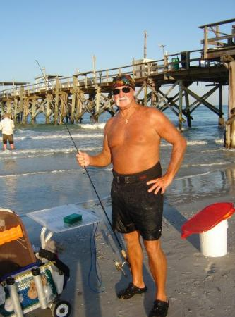 North Redington Beach, Floride : Hulk Hogan on the beach