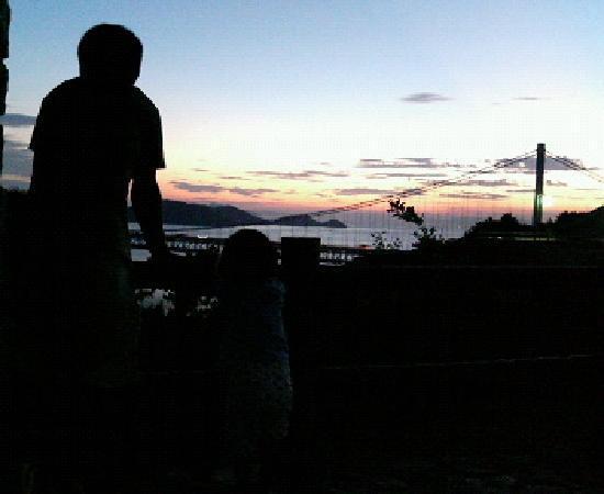 Kurashiki, Japan: 夕日が沈むところです