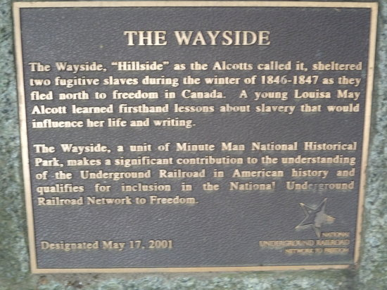 The Wayside : The plaque out front