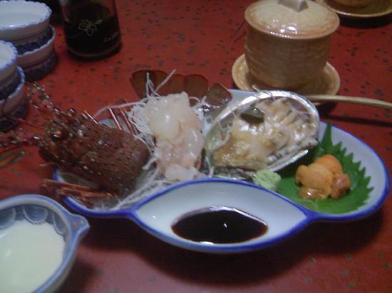 Matsuya : 伊勢海老あわびウニ3種盛り